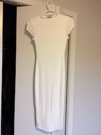 white scoop-neck cap-sleeved dress Edmonton, T5X 0J8