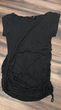 black cute cocktail dress with both side  string to tie
