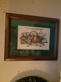 Hand stitched, matted and framed by me Bossier City, 71112