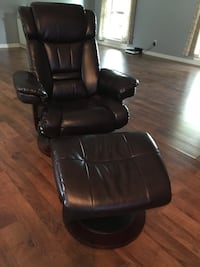 Leather recliner and ottoman Monroe, 71201