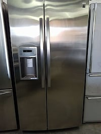 chrome side-by-side refrigerator with dispenser Woodbridge, 22191
