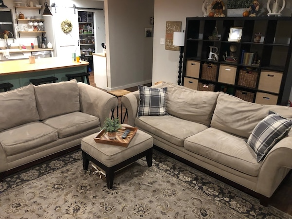 Couch and Love Seat and ottoman 50324b7b-8433-4599-8d94-16d7f5523c74