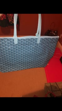 Blue shoulder bag with pouch Lakeshore, N0R 1A0