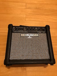 "Behringer 15-Watt Guitar Amp With 8"" Speaker"