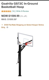 Black and gray goalrilla gs72c in-ground basketball hoop Oak Park, 91377