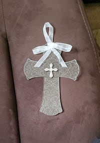Etched Glass Cross wall decoration