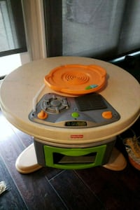 Fisher price play kitchen table set with music