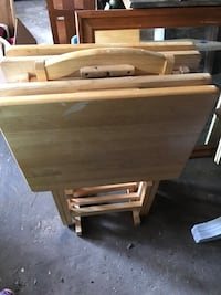 All wood TV tables set $13 East Greenwich, 02818