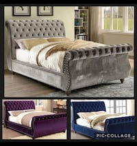HURRY! ENDING SOON ** QN SLEIGH BED $878 or $50DnPayment w/ NoCreditFinancing ** Choice of 3 Colors Atlanta