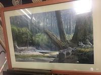 forest field tree portrait with brown wooden frame 3793 km