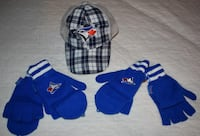 Toronto Blue Jays Giveaways - Plaid Mesh Hat & 2 pairs of Mittens