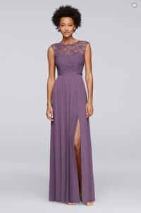 Long Bridesmaid Dress with Ribbon Waist