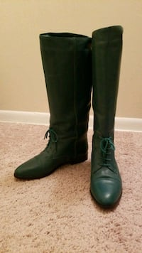 Green leather boots size 9M  Glen Burnie, 21060