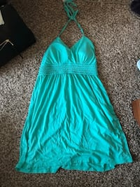 teal spaghetti strap mini dress Gaithersburg, 20878