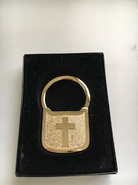 Chinese Gold and pink key ring with small box Edmonton
