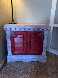 Hand painted repurposed end table/night stand