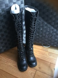 Black long lace boots Size:37 Chatswood, 2067