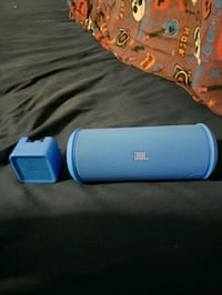 blue and white JBL portable speaker St. Albert, T8N 0K4