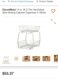 ClosetMaid 14 in. W 2-Tier Ventilated Wire Sliding Cabinet Organizer