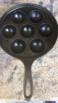Griswold no.32 cast iron aebleskiver pan would be great for poaching eggs also!! Santa Rosa, 95404