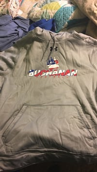 gray, red, and white Under Armour Buchanan pullover hoodie Clovis, 93619