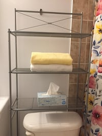 Shelving unit over the toilet