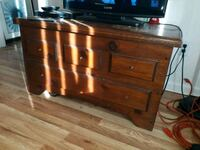 black and brown wooden TV stand Denver, 80203
