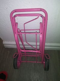 Pink carrier cart