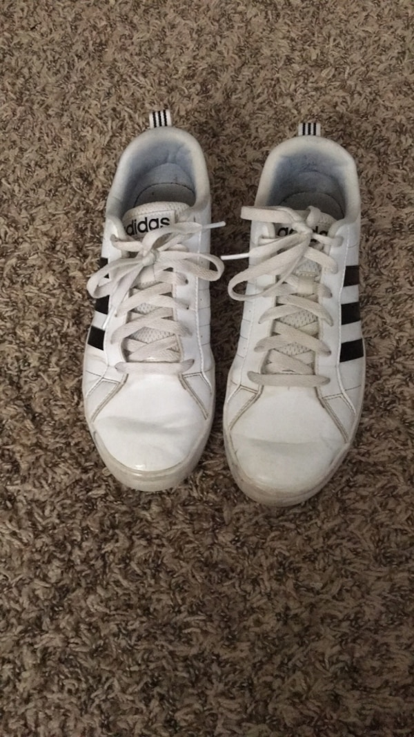 0f7d732b947114 Used pair of white adidas low-top sneakers for sale in Raleigh - letgo