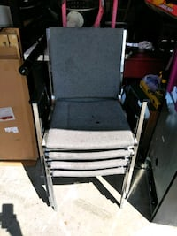 black and gray folding chair Clarksville, 37042