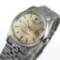 round silver-colored analog watch with link bracelet Los Angeles