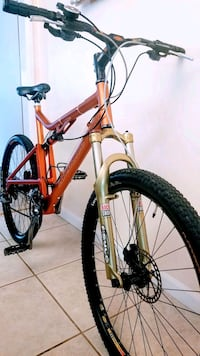 red and black hardtail mountain bike South Gate, 90280