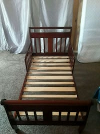 brown wooden bed frame with white mattress Lackawanna, 14218