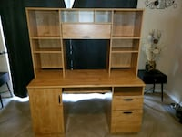 brown wooden computer desk with hutch Jacksonville, 32255