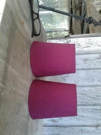 Two pink lamp shades small