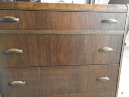 ANTIQUE WATERFALL DRESSER--FINELY CRAFTED