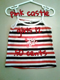 white, red, and black stripe tank top Calgary, T3B 0T3
