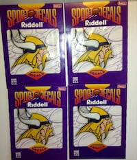 Minnesota Vikings NFL Decal Set of Four 5 x 6 London