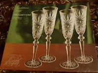 four clear cut wine glasses Laurel, 20707