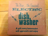 "VINTAGE "" ELECRICT DISH WASHER"" GAG GIFT Redford Charter Township"