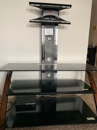 black glass top TV stand with mount Regina, S4N 5N6
