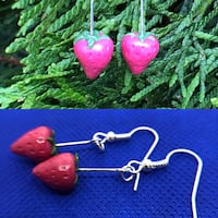 strawberry earrings Vancouver, 98660