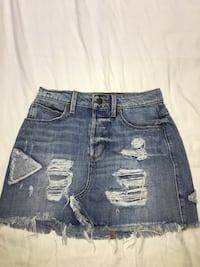 Retro Guess ripped jean skirt Ancaster, L9G 2L5