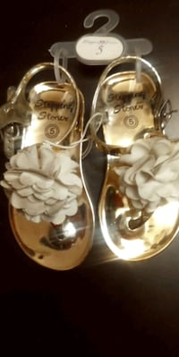 Toddler's Fancy Gold Sandals Brandon, 33510