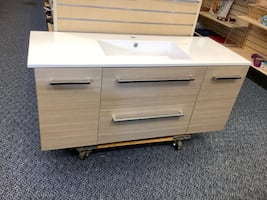 "Brand New McPeak 48"" Wall-Mounted Bathroom Vanity"