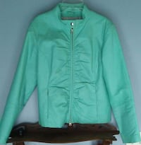 Woman's Wilson's Teal Leather Jacket Circleville, 43113