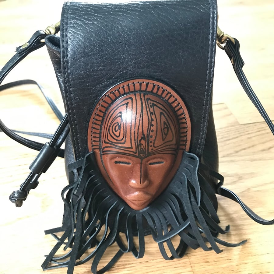 All leather hand crafted African backpack 46d63863-8f32-400a-a976-0897078d9afe