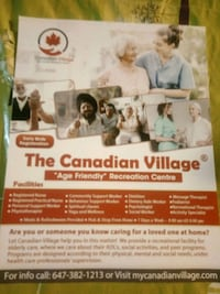 personal care, adult day care Brampton, L7A 0C7