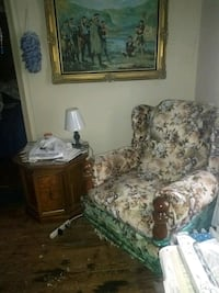 brown and gray floral sofa chair Falls Church, 22041