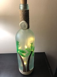 Palm tree wine bottle